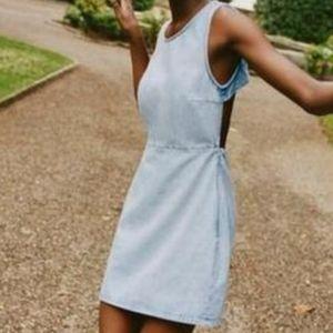 Zara blue Denim cut out dress
